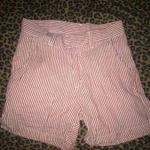 American Apparel High Waisted Candy Striper Shorts